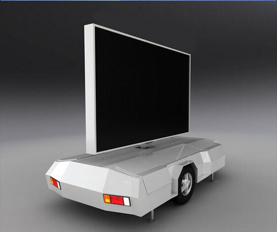 Outdoor Mobile LED Advertising Truck / vehicles / movable led billboard P5 P6 Double sided taxi led Display TOP signs