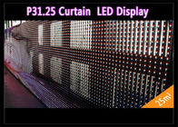 Transparent See - Through Curtain IP 65 , Rental LED Media Facade for Advertising