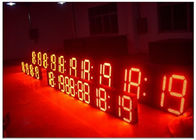 High Brightness 7 segmen led gas price signs with wireless IR remote control , long Life span