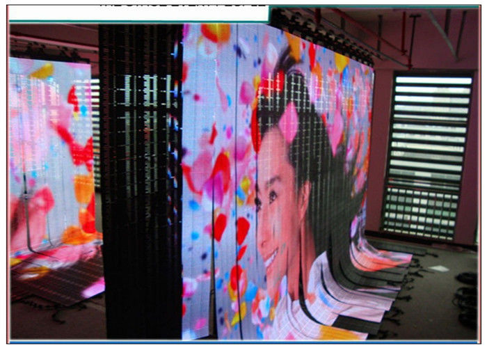 P6 Flexible LED Curtain SMD3528 , Rental Flexible Video Display High Resolution