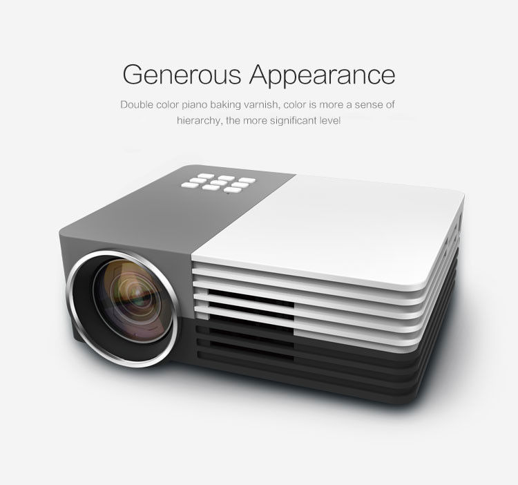 30W Ultra Low Power Consumption Portable LED Projector With Remote Controller